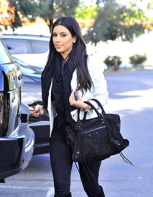 Kim And Kourtney Kardashian Visit And Check Up On Their Store Dash In Calabasas, CA