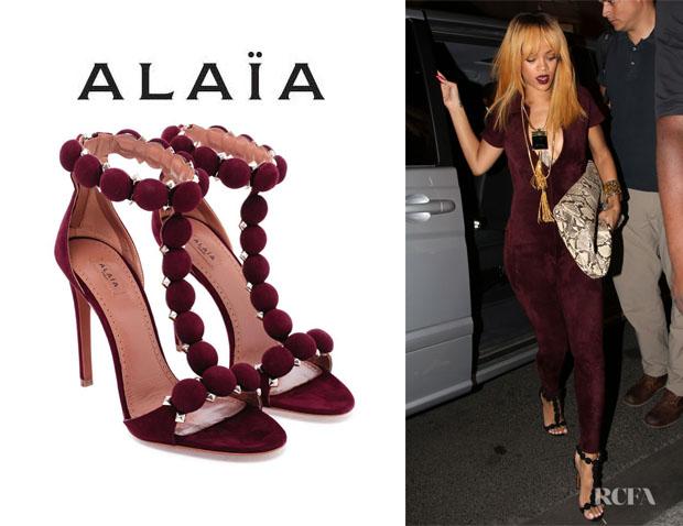 Rihannas-Azzedine-Alaia-Studded-Suede-Sandals